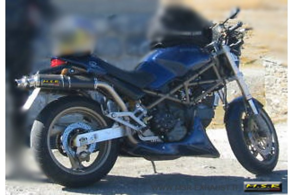 Double Exhaust Approved Msr Motorcycle Ducati Monster 400 600 900