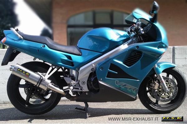 muffler exhaust approved msr motorcycle honda vfr 750 f. Black Bedroom Furniture Sets. Home Design Ideas