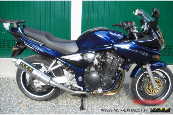 muffler exhaust approved msr motorcycle suzuki gsf 600. Black Bedroom Furniture Sets. Home Design Ideas